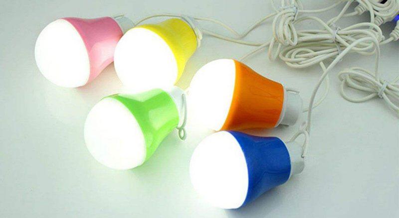 لامپ 5 وات یو اس بی | usb مناسب کمپینگ بامبوکمپ