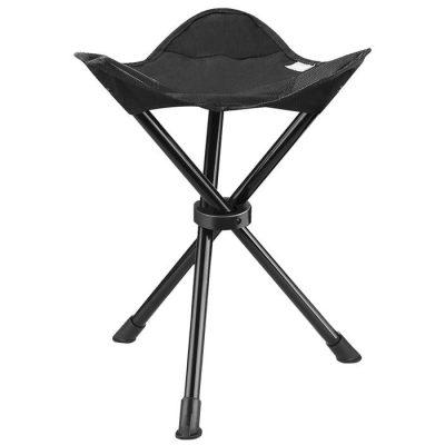 صندلی 3 پایه مشکی مسافرتی