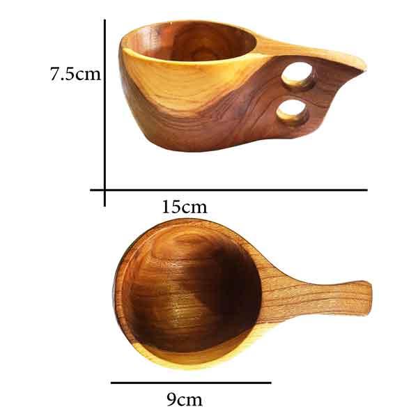 کوکسا لیوان چوبی چوب گردو باکیفیت 4 بامبو کمپ