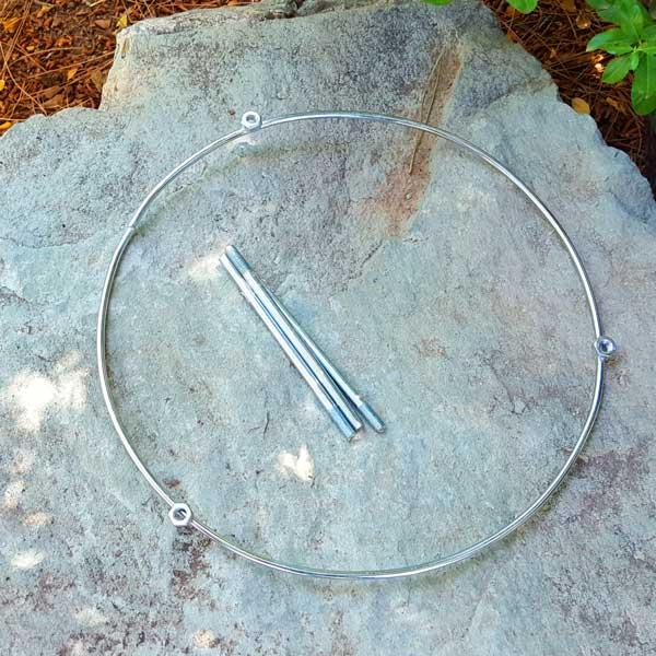 سه پایه ساج گرانیتی پایه دار 42 سانتیمتری تابه طبیعتگردی
